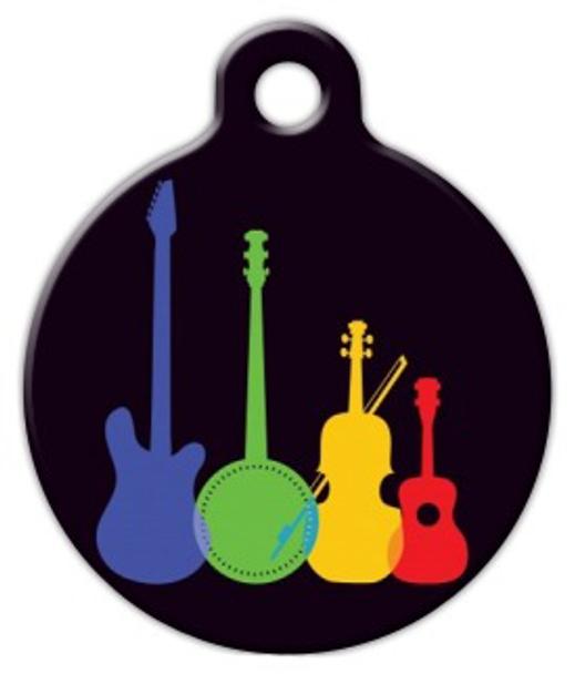 Dog Tag Art Musical Instruments Pet ID Dog Tag
