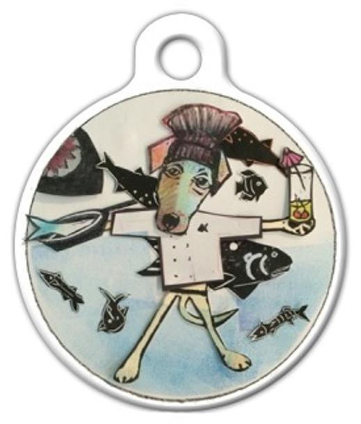 Dog Tag Art Fish Fryday Pet ID Dog Tag