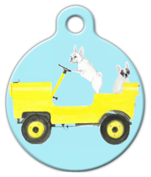 Dog Tag Art Naughty Dogs Pet ID Dog Tag