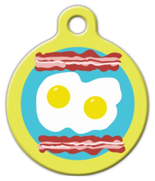 Dog Tag Art Breakfast Plate Pet ID Dog Tag