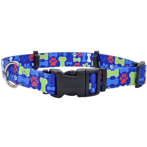 Coastal Pet Secureaway | Hideaway Flea Collar Protector (6142) Multi Bones Blue