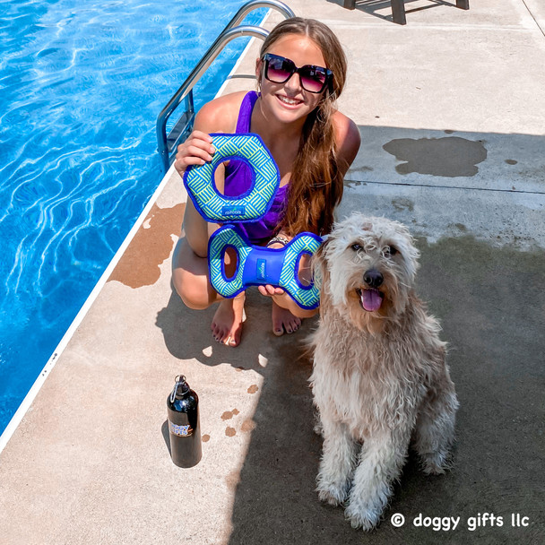 Rascals® fetch hexagon dog toy and Rascals® fetch tug dog toy at doggygifts.com