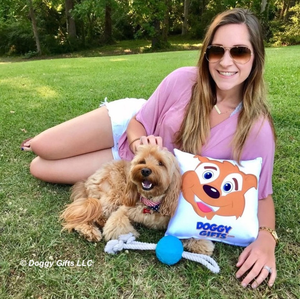Miller and Mom Katherine Having Fun at The Park With Pro Fit Rope Ball Dog Toy
