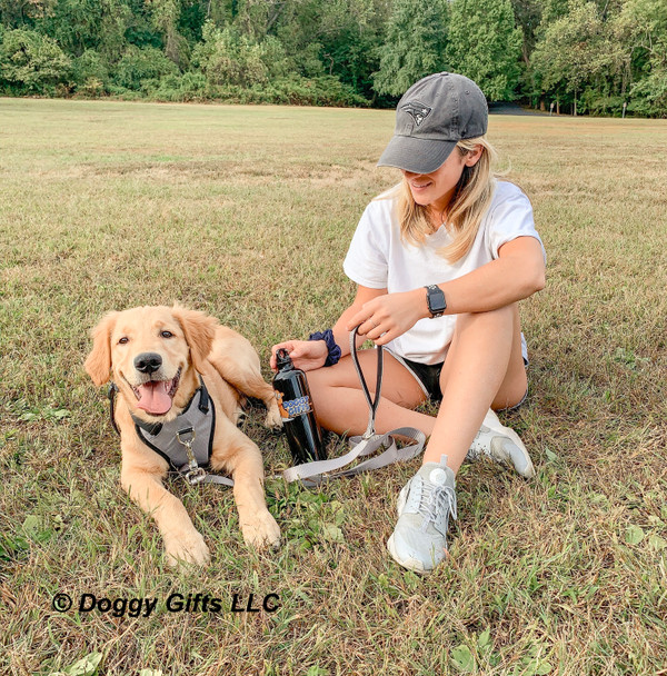 good.boy.nash and his mom playing in the park wearing coastal pet inspire leash and harness