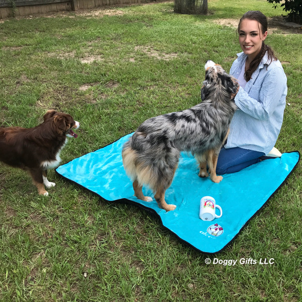 Aspen and Nessie and Christina on Alcott Dog Blanket