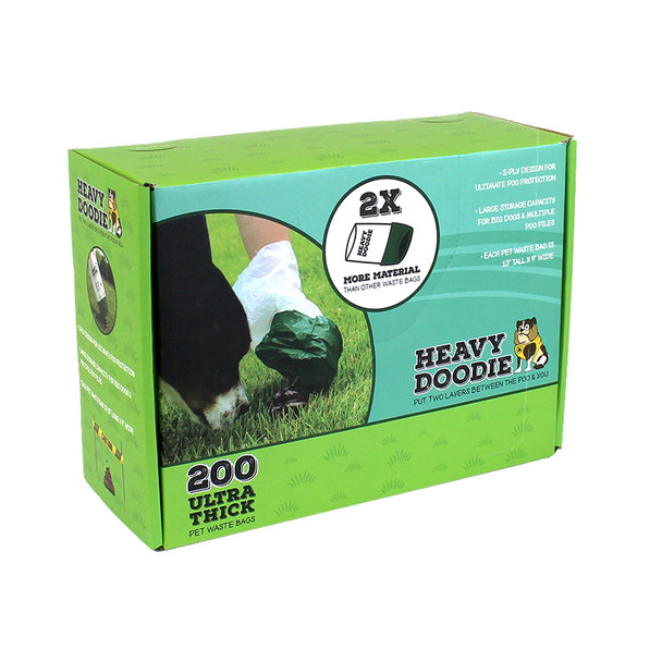 Heavy Doodie Ultra Thick Pet Waste Bags 200 count box