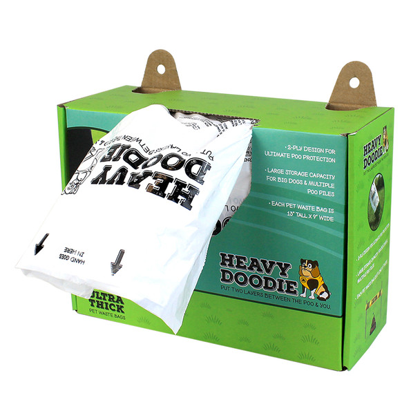 Heavy Doodie Ultra Thick Pet Waste Bags 100 count box dispenser
