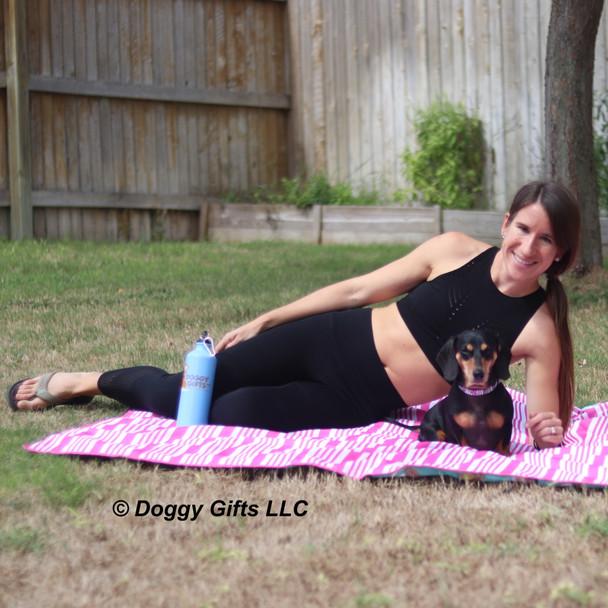 Sadie and her mom wearing Coastal Pet Celebrations Halloween Dog Collar