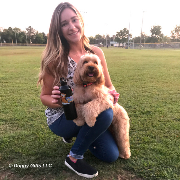 Miller and mom love the Coastal Pet Celebrations Holiday Dog Collars