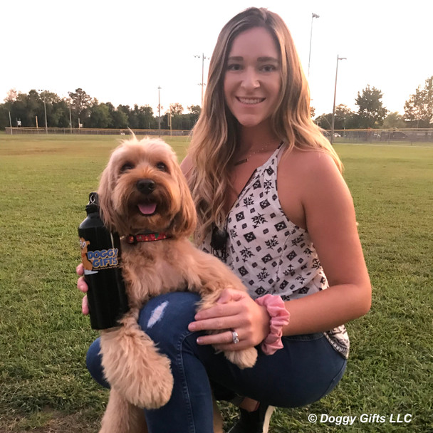 Millerthelabradoodle and mom love the Coastal Pet Celebrations Holiday Dog Collar
