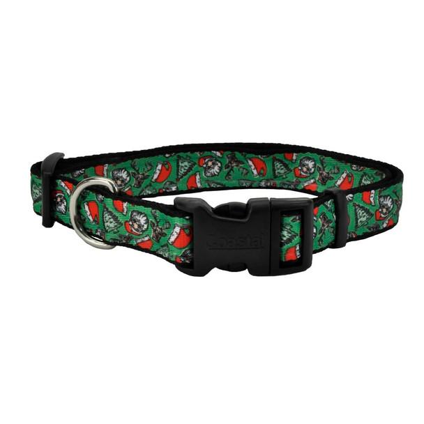 Celebration Christmas Dog Collar (06428PCH) CH2 Santa Fun