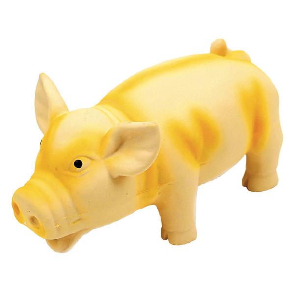 """Rascals Grunt Dog Toy Grunting Pig Yellow 6.25"""" (83051RYLWDOG)"""