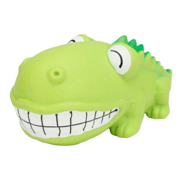 Rascals Grunt Dog Toy Big Head Alligator (83084RNCLDOG)