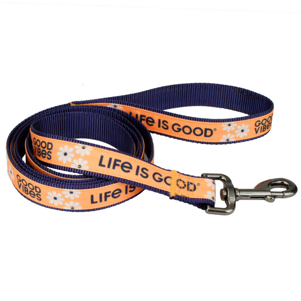 Life Is Good® Overlay Dog Leash (61456D) Yellow Good Vibes