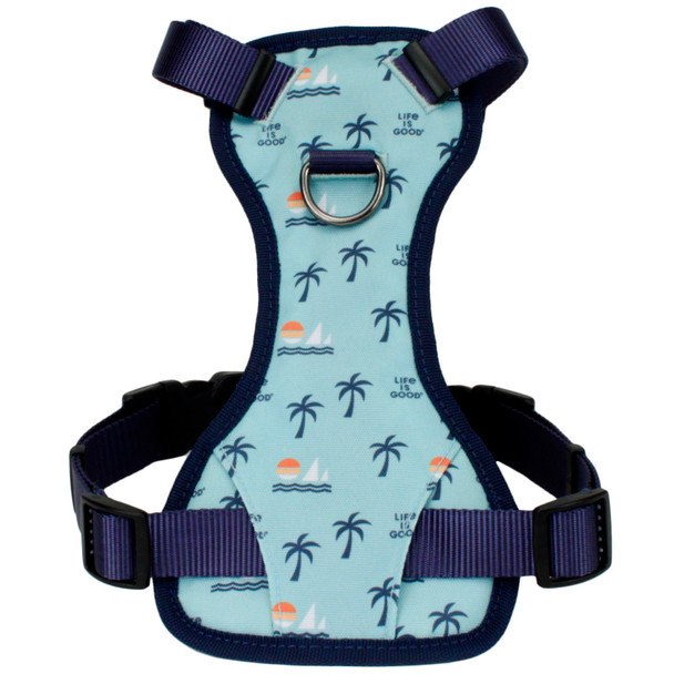 Life Is Good® Overlay Dog Harness (61453D) Blue Good Vibes