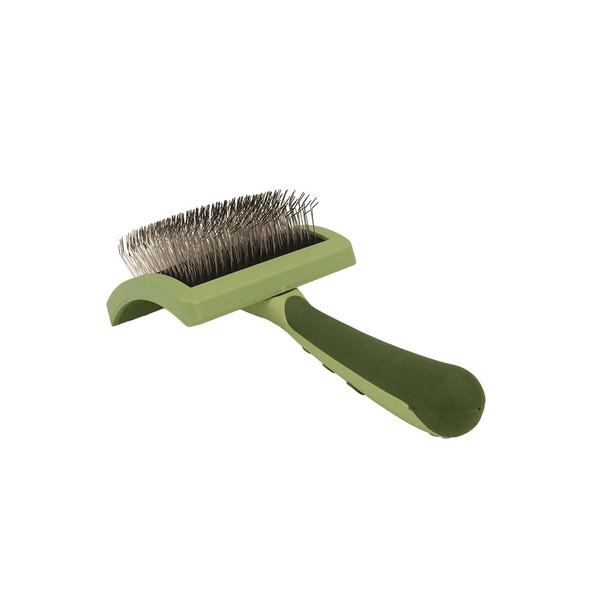 Safari® Curved Firm Slicker Long Hair Dog Brush