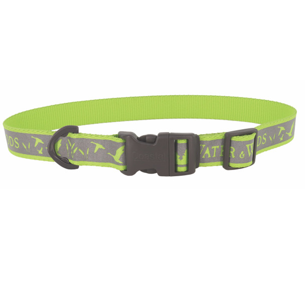 Water&Woods™ Reflective Dog Collar WWL Water and Woods Lime