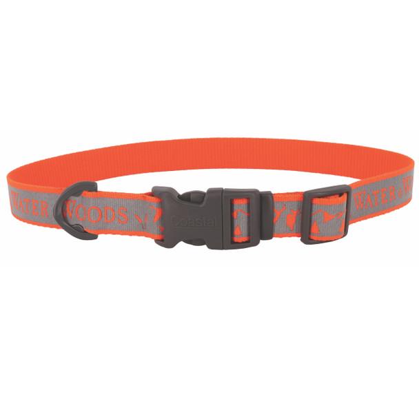 Water&Woods™ Reflective Dog Collar WWO Water and Woods Orange