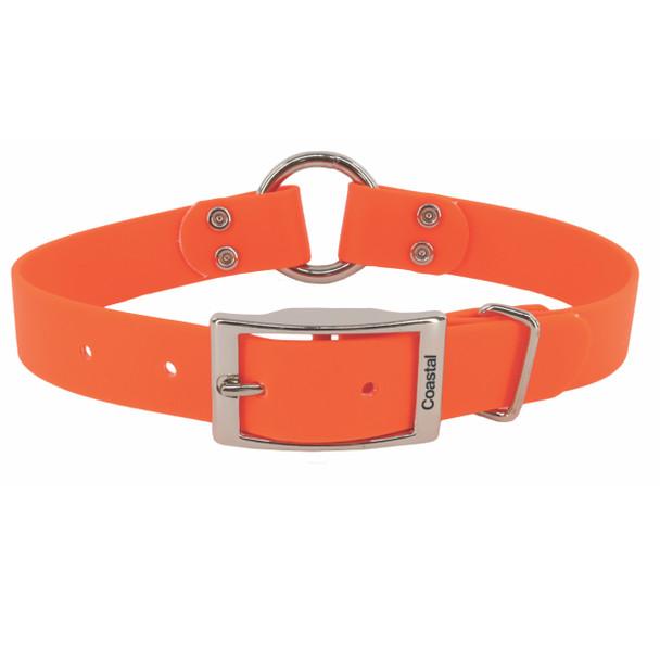 Water&Woods™ Waterproof Hound Center Ring Dog Collar Safety Orange