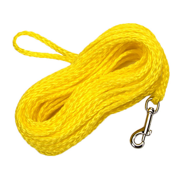 Water&Woods™ Hollow Braided Poly Dog Check Cord Yellow