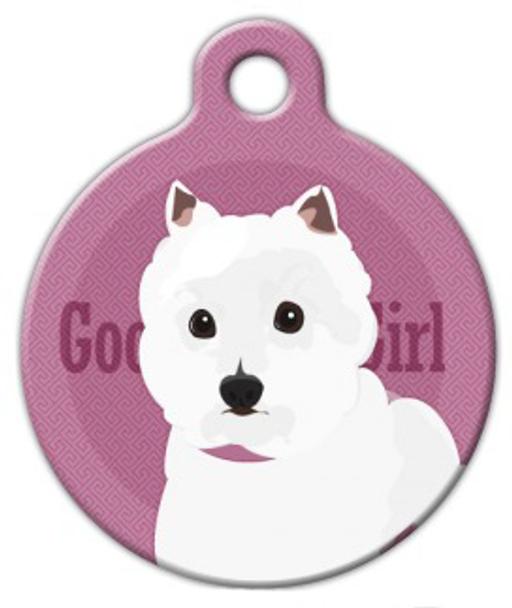 Dog Tag Art Good Girl West Highland White Terrier Pet ID Dog Tag