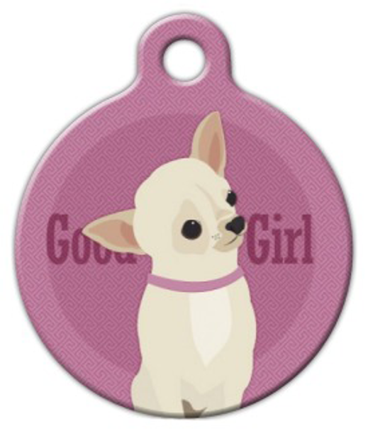 Dog Tag Art Good Girl Chihuahua Pet ID Dog Tag