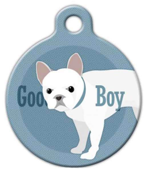 Dog Tag Art Good Boy French Bull Dog Pet ID Dog Tag