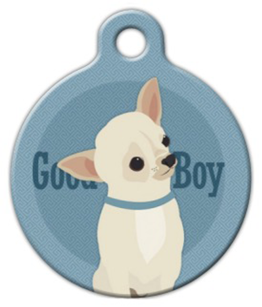 Dog Tag Art Good Boy Chihuahua Pet ID Dog Tag