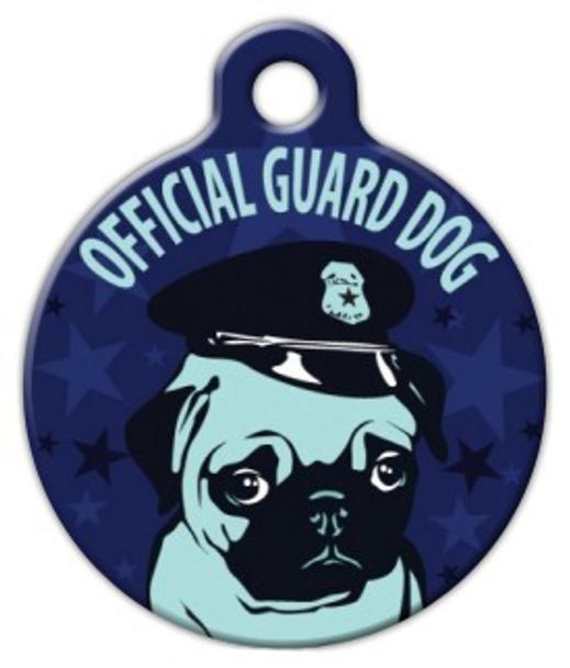 Dog Tag Art Pug Guard Dog Pet ID Dog Tag