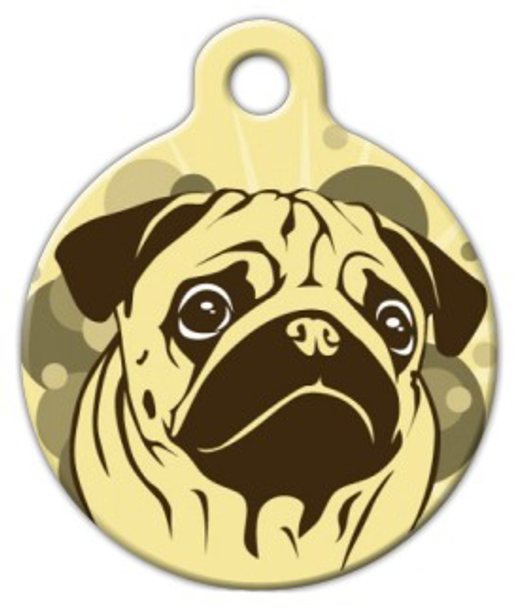 Dog Tag Art Sienna Pug Pet ID Dog Tag