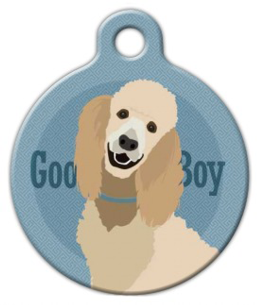 Dog Tag Art Good Boy Standard Poodle Pet ID Dog Tag