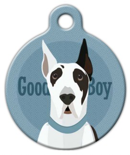 Dog Tag Art Good Boy Great Dane Pet ID Dog Tag