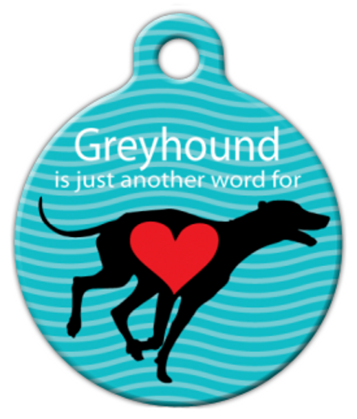 Dog Tag Art Greyhound Love Pet ID Dog Tag