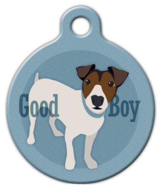 Dog Tag Art Good Boy Jack Russel Terrier Pet ID Dog Tag