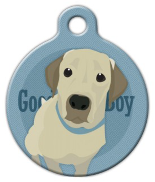 Dog Tag Art Good Boy Labrador Retriever Pet ID Dog Tag