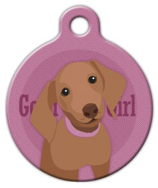 Dog Tag Art Good Girl Dachshund Pet ID Dog Tag