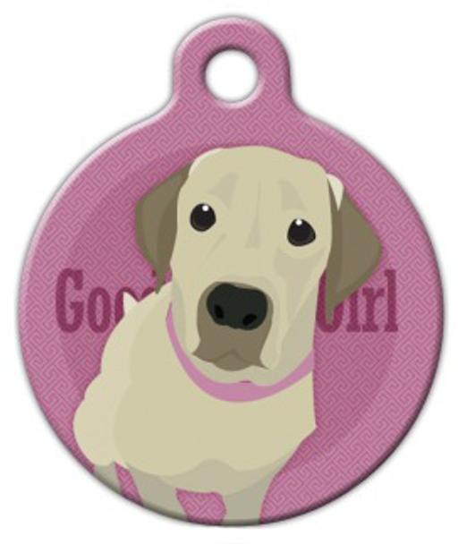 Dog Tag Art Good Girl Labrador Retriever Pet ID Dog Tag