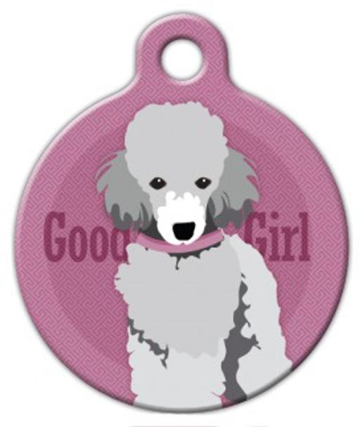 Dog Tag Art Good Girl Toy Poodle Pet ID Dog Tag