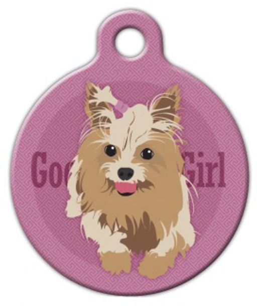 Dog Tag Art Good Girl Yorkshire Terrier Pet ID Dog Tag