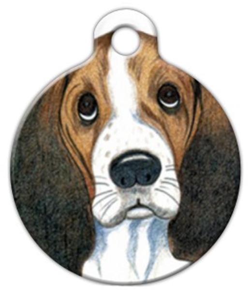 Dog Tag Art Sad Eyes Pet ID Dog Tag
