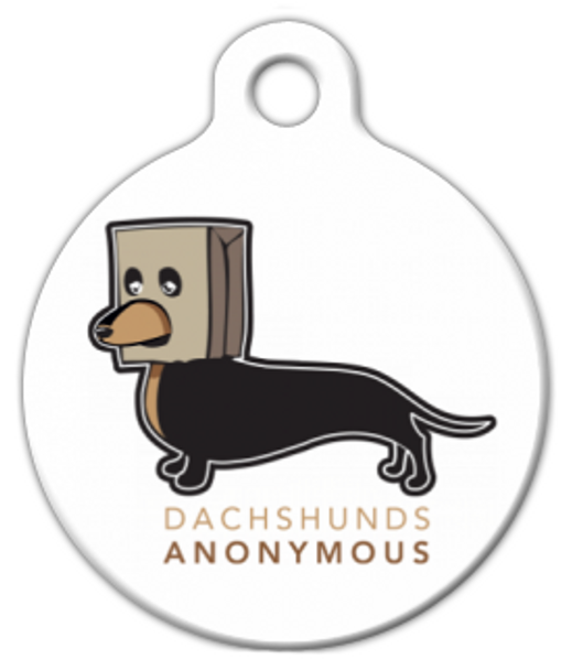 Dog Tag Art Dachshunds Anonymous Pet ID Dog Tag