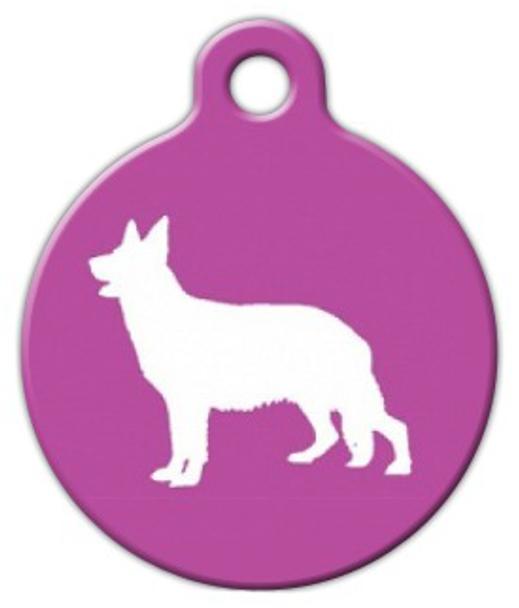 Dog Tag Art German Shepherd Silhouette Pet ID Dog Tag