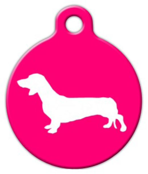 Dog Tag Art Dachshund Silhouette Pet ID Dog Tag
