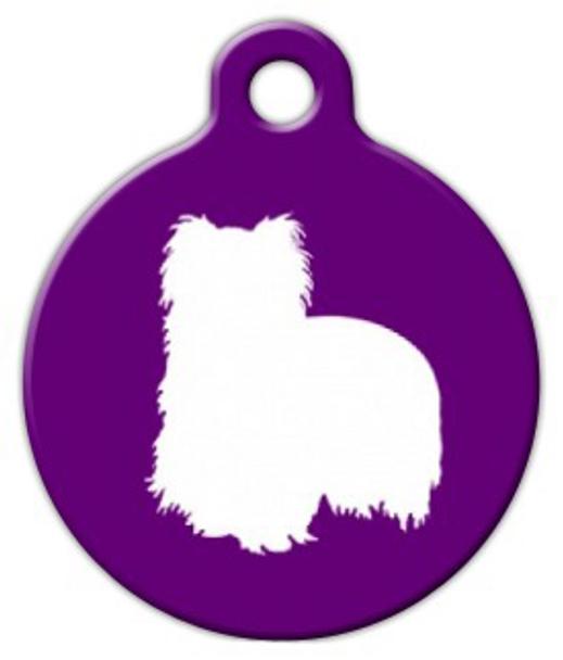 Dog Tag Art Yorkie Silhouette Pet ID Dog Tag