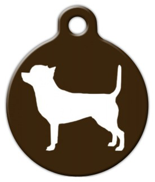 Dog Tag Art Chihuahua Silhouette Pet ID Dog Tag