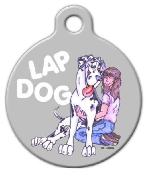 Dog Tag Art Lap Dog Harlequin Great Dane Pet ID Dog Tag