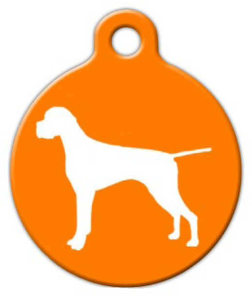 Dog Tag Art Pointer Silhouette Pet ID Dog Tag