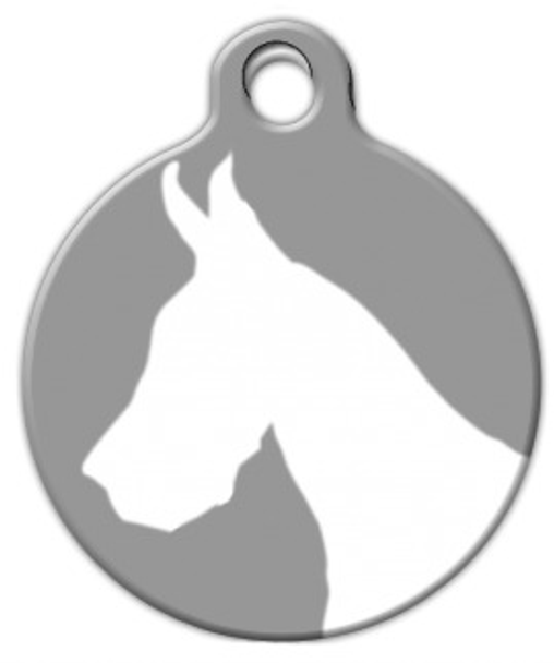Dog Tag Art Great Dane Silhouette Pet ID Dog Tag