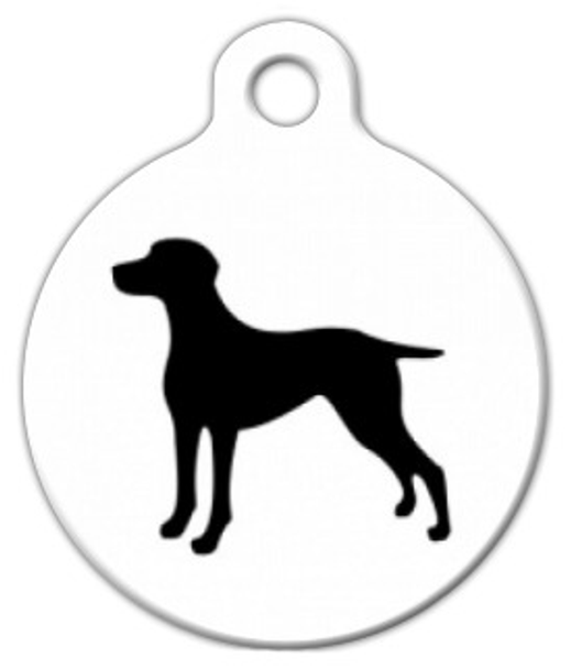 Dog Tag Art Weimaraner Silhouette Pet ID Dog Tag