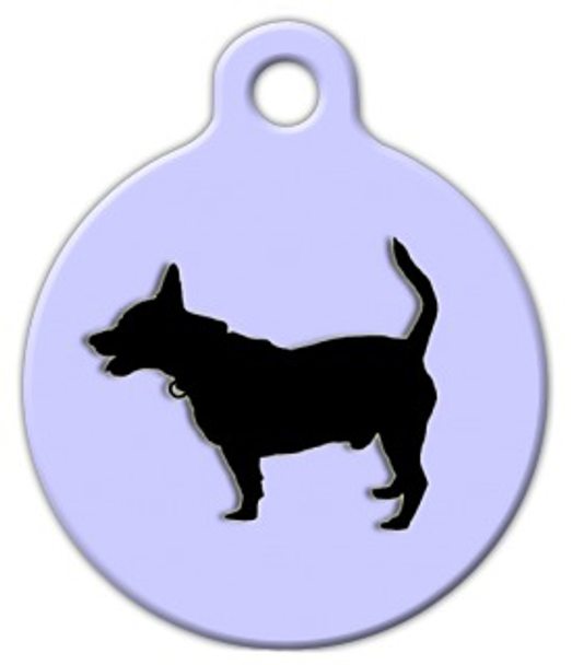 Dog Tag Art Rat Terrier Silhouette Pet ID Dog Tag